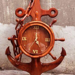 đồng hồ mỏ neo dây xích gỗ hương