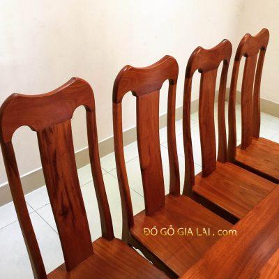 ghế ăn gỗ căm xe - mẫu đầu bò