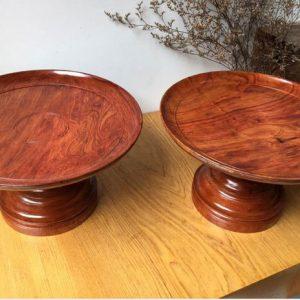 đĩa trái cây gỗ