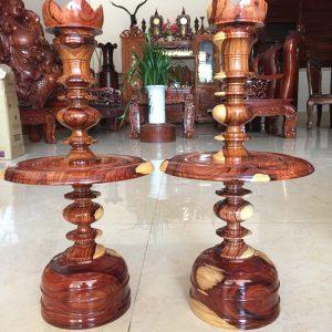 cặp đèn thờ gỗ cẩm lai