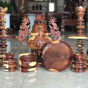 bộ đồ thờ bằng gỗ cẩm lai