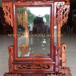 khung ảnh thờ đục rồng gỗ hương gia lai