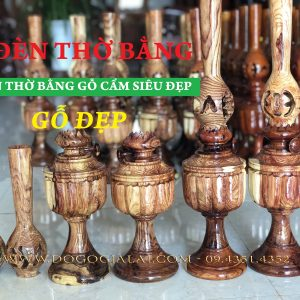đèn thờ bằng gỗ cẩm lai